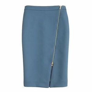 J. Crew Exposed Zip Pencil Skirt